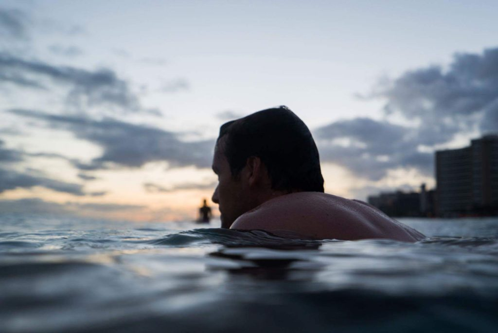 Queens, Waikiki. Evening Alaia Session